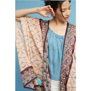 NWT ANTHROPOLOGIE Lynnie Tasseled Beaded Kimono